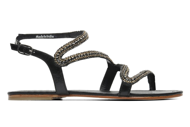 Sandales et nu-pieds Les Tropéziennes par M Belarbi Jolane Noir vue derrière