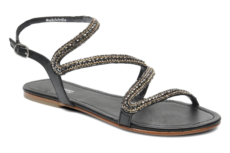 Sandales et nu-pieds Les Tropéziennes par M Belarbi Jolane Noir vue détail/paire