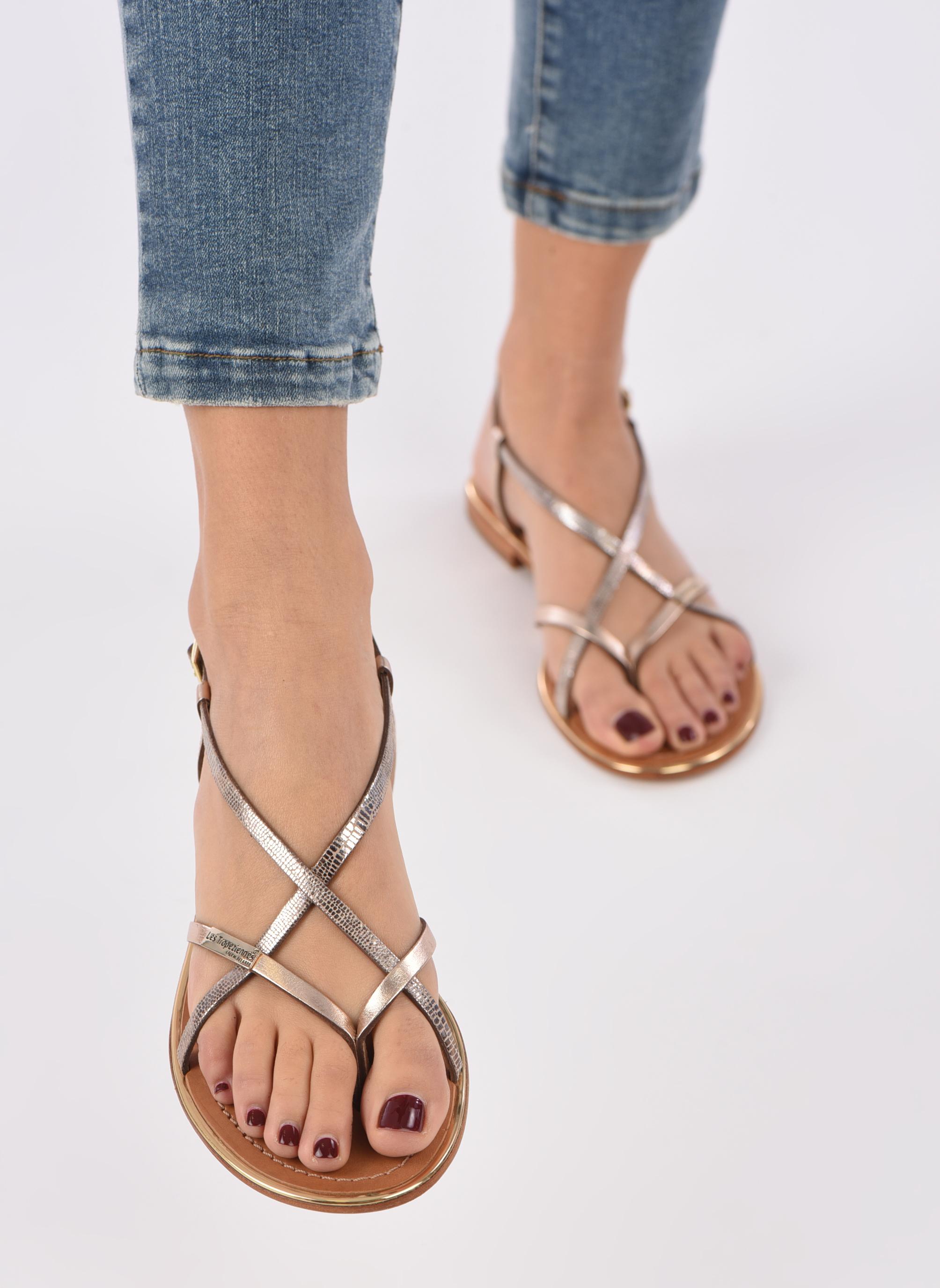 Sandalen Les Tropéziennes par M Belarbi Monaco mehrfarbig ansicht von unten / tasche getragen