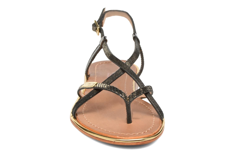 Sandalen Les Tropéziennes par M Belarbi Monaco schwarz schuhe getragen