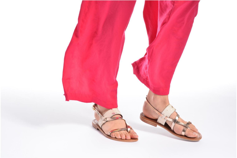 Sandales et nu-pieds Les Tropéziennes par M Belarbi Baule Beige vue bas / vue portée sac