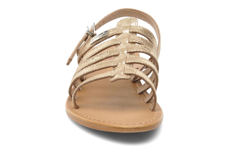 Sandales et nu-pieds Les Tropéziennes par M Belarbi Brillant Or et bronze vue portées chaussures