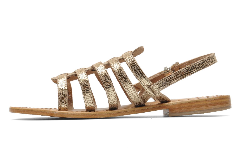 Sandales et nu-pieds Les Tropéziennes par M Belarbi Brillant Or et bronze vue face