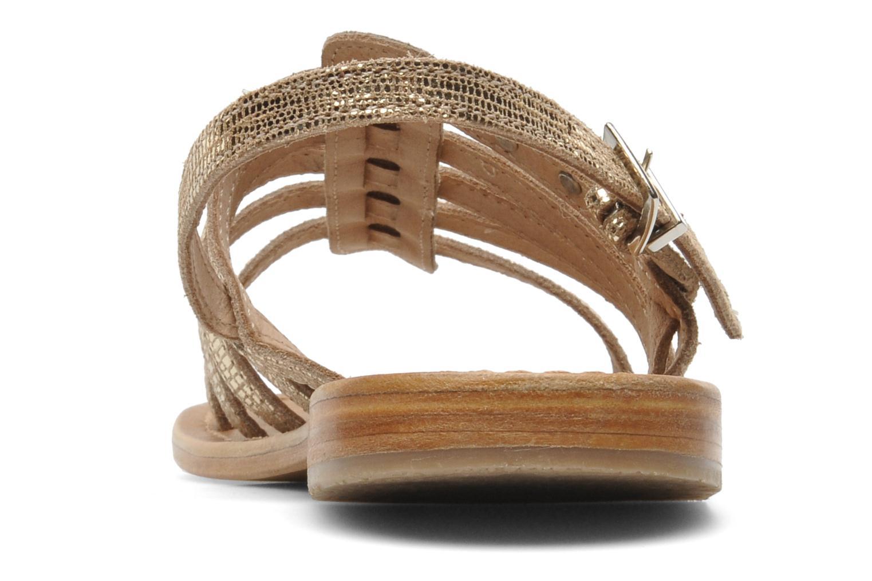 Sandales et nu-pieds Les Tropéziennes par M Belarbi Brillant Or et bronze vue droite