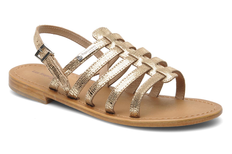 Sandales et nu-pieds Les Tropéziennes par M Belarbi Brillant Or et bronze vue détail/paire