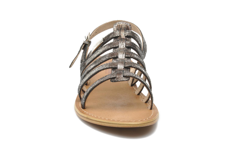 Sandalen Les Tropéziennes par M Belarbi Brillant silber schuhe getragen