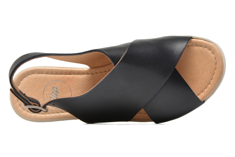 Sandales et nu-pieds Yep Benny Bleu vue gauche