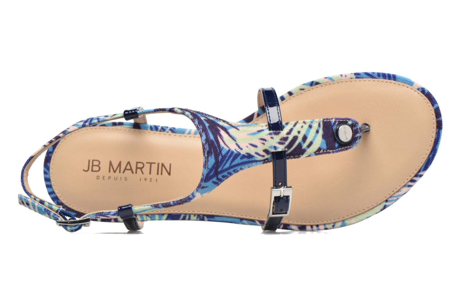 Sandals JB MARTIN 2Gaelia Blue view from the left