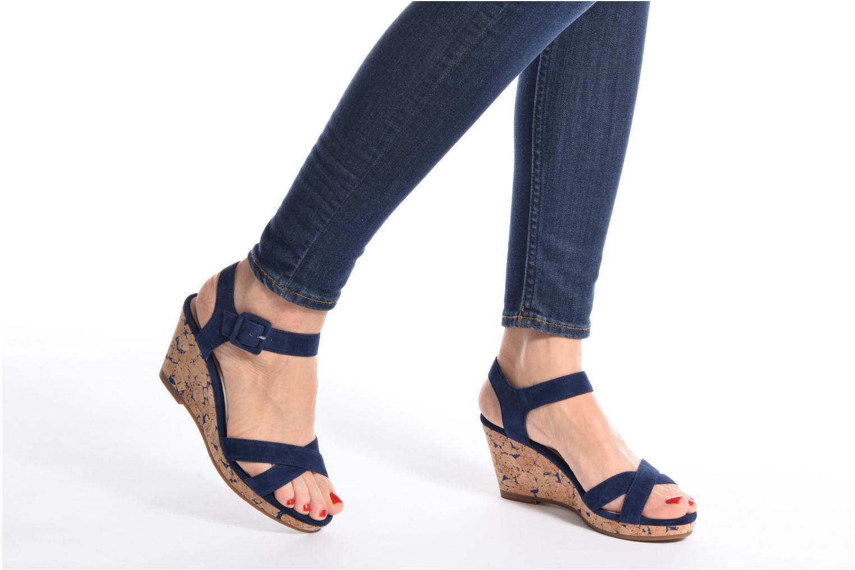 Sandales et nu-pieds JB MARTIN Querida Bleu vue bas / vue portée sac