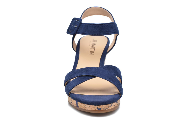 Sandales et nu-pieds JB MARTIN Querida Bleu vue portées chaussures