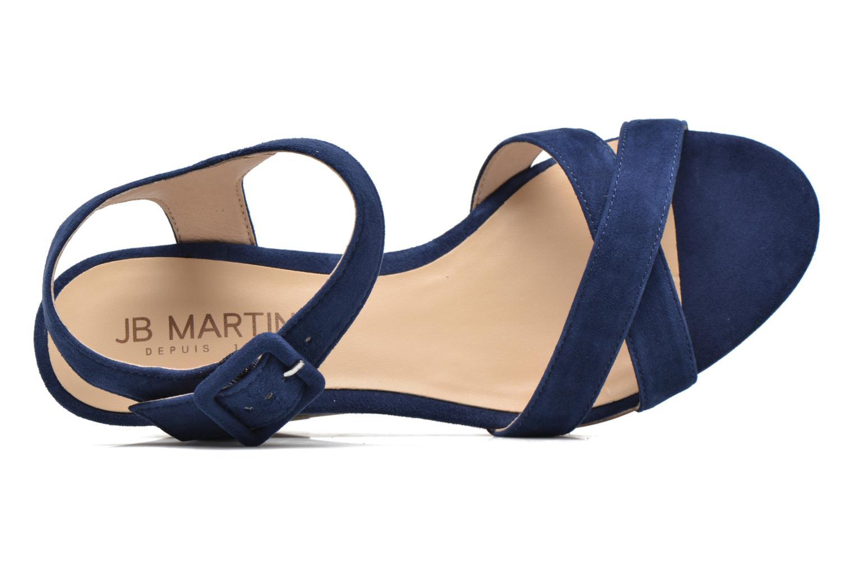 Sandales et nu-pieds JB MARTIN Querida Bleu vue gauche