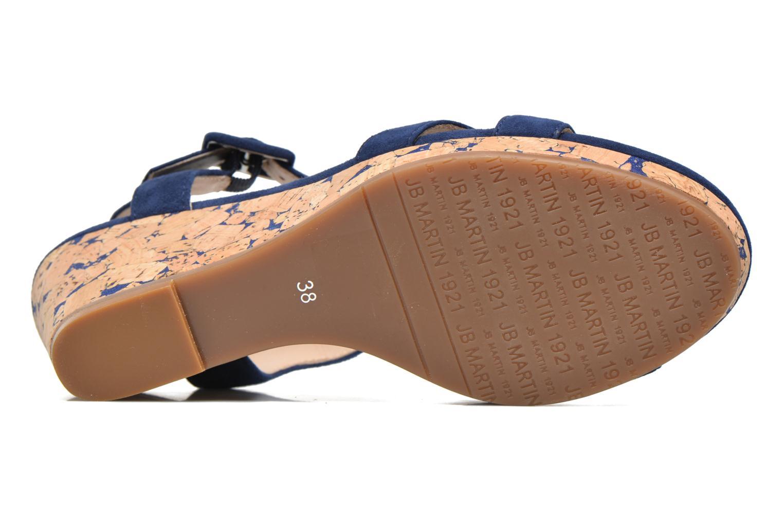 Sandales et nu-pieds JB MARTIN Querida Bleu vue haut