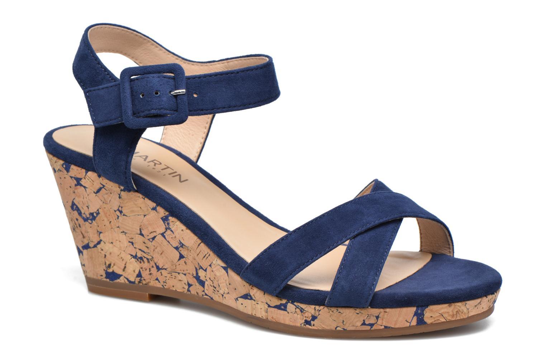 Sandales et nu-pieds JB MARTIN Querida Bleu vue détail/paire