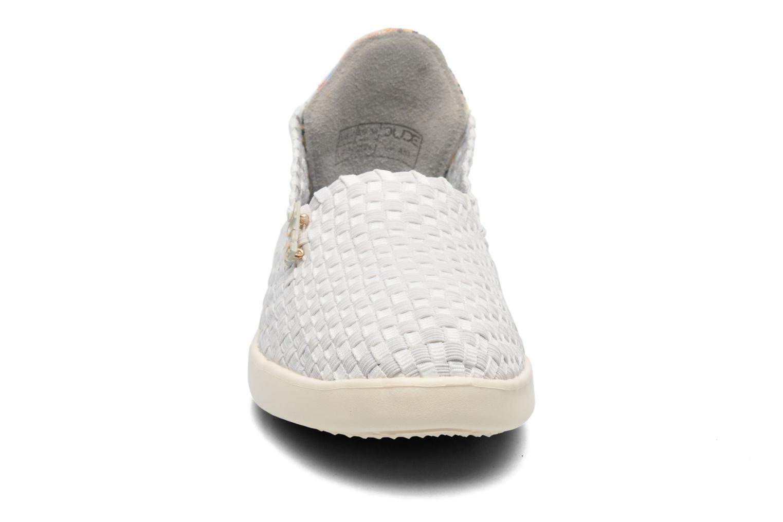 Sneakers DUDE E-last simple Bianco modello indossato