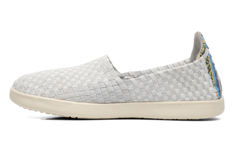 Sneakers DUDE E-last simple Hvid se forfra