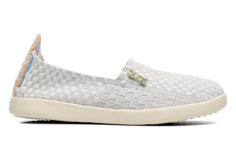 Sneakers DUDE E-last simple Hvid se bagfra