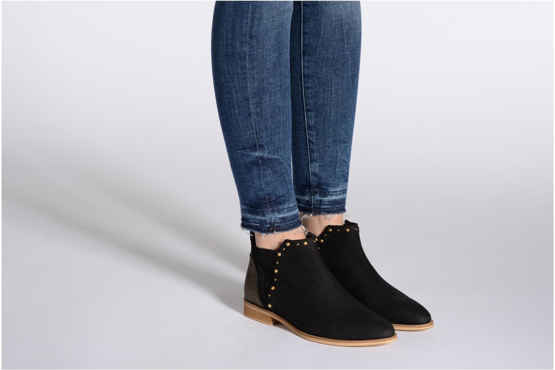 Velours Low Boots Nero Oro