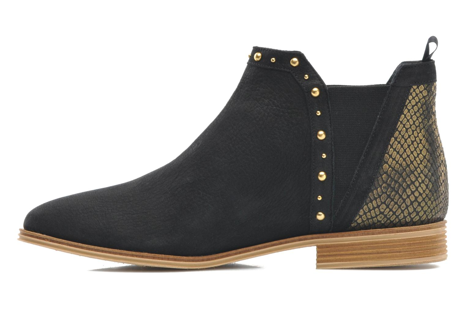 Velours Low Boots Nero Oro