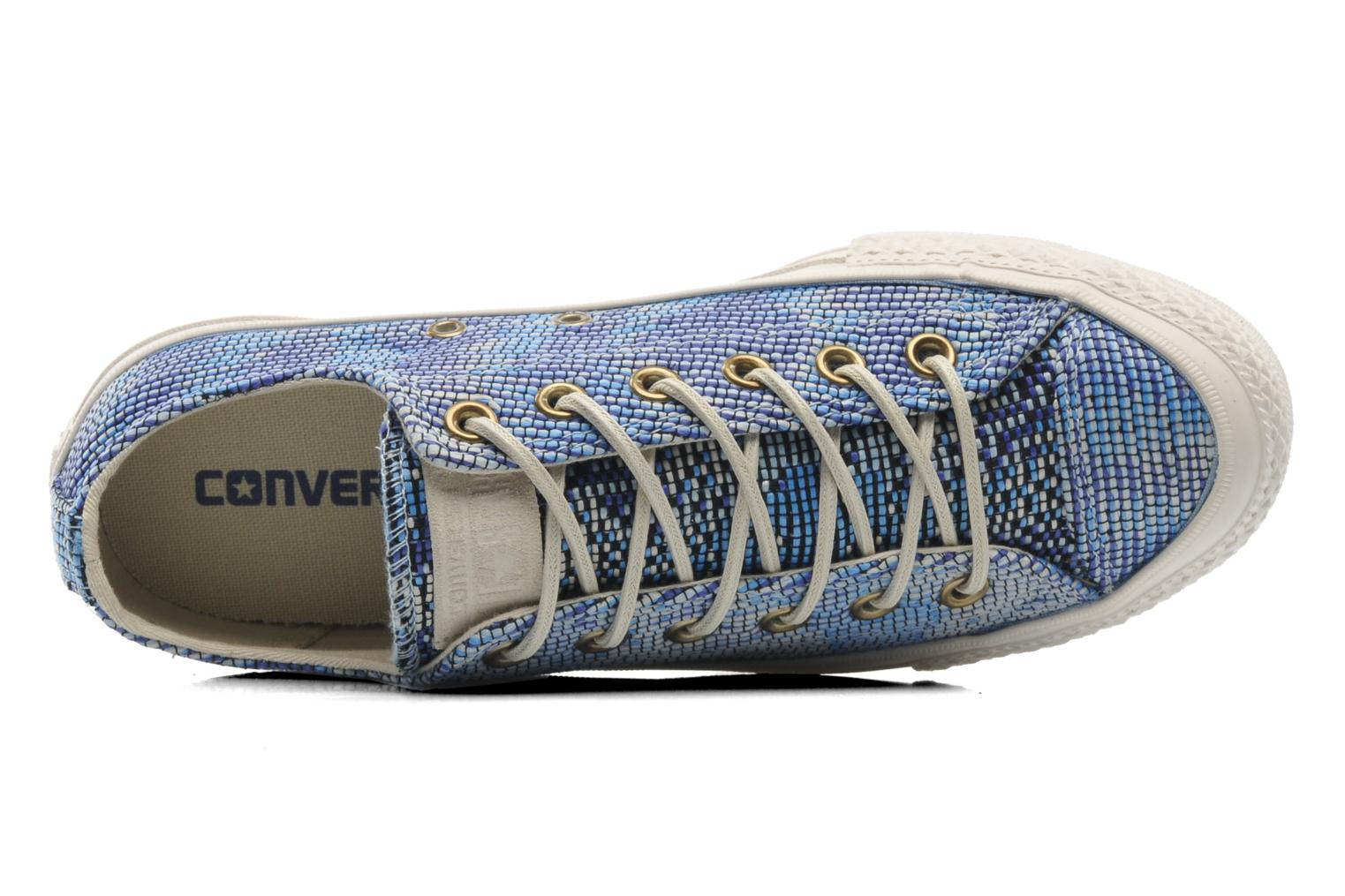 Sneakers Converse Chuck Taylor All Star Basket Weave Ox W Multicolore immagine sinistra