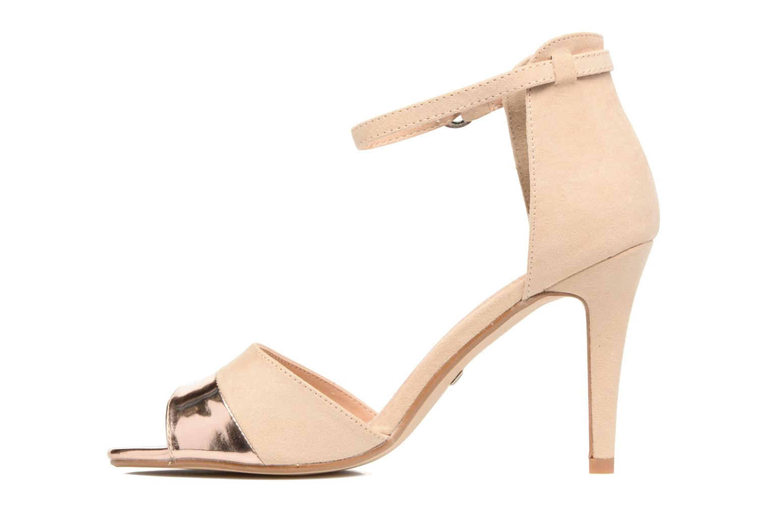 Sandals Buffalo Olivia Beige front view