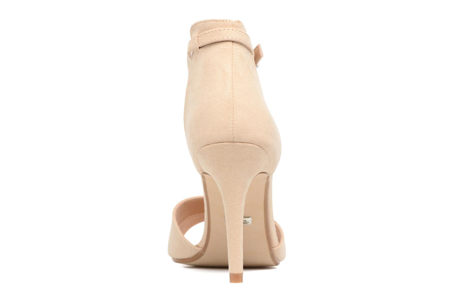 Sandals Buffalo Olivia Beige view from the right