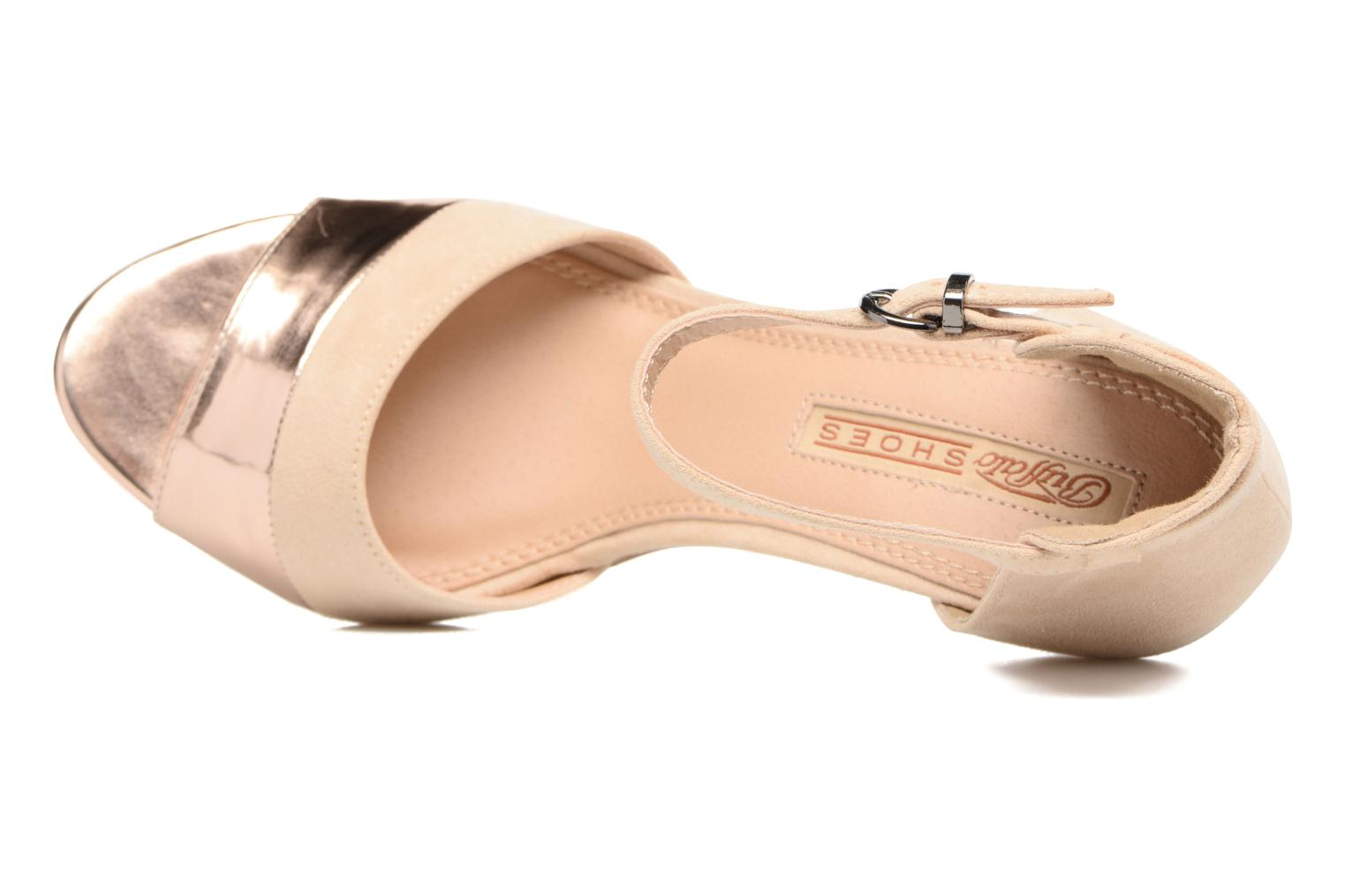 Sandals Buffalo Olivia Beige view from the left