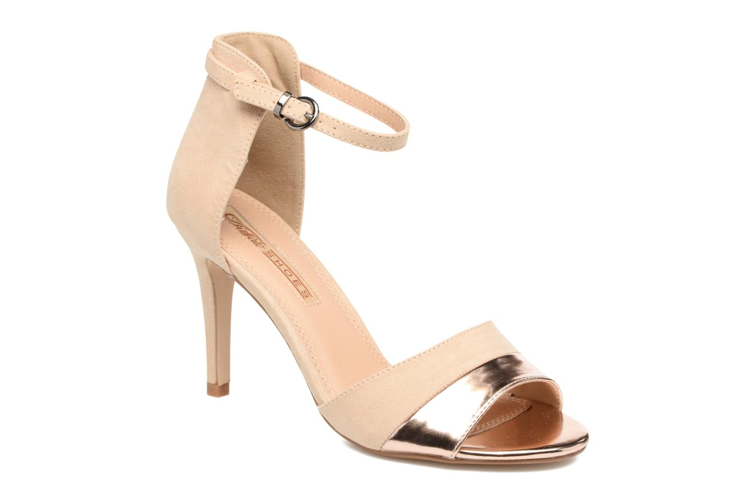 Sandals Buffalo Olivia Beige detailed view/ Pair view