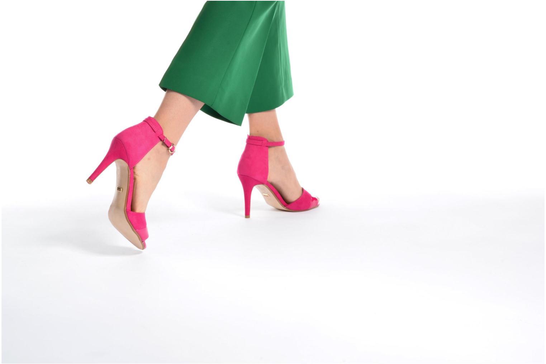 Sandalen Buffalo Olivia rosa ansicht von unten / tasche getragen