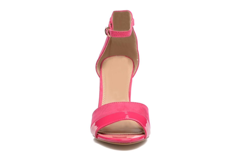 Sandalen Buffalo Olivia rosa schuhe getragen