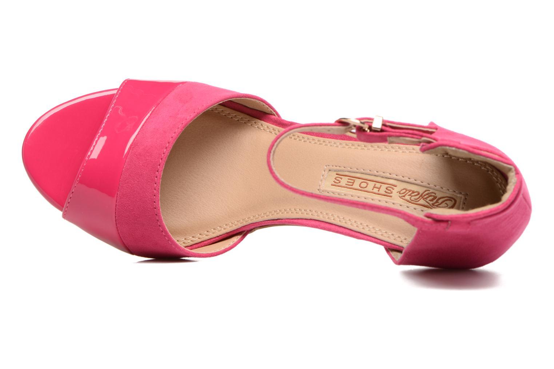 Sandalen Buffalo Olivia rosa ansicht von links