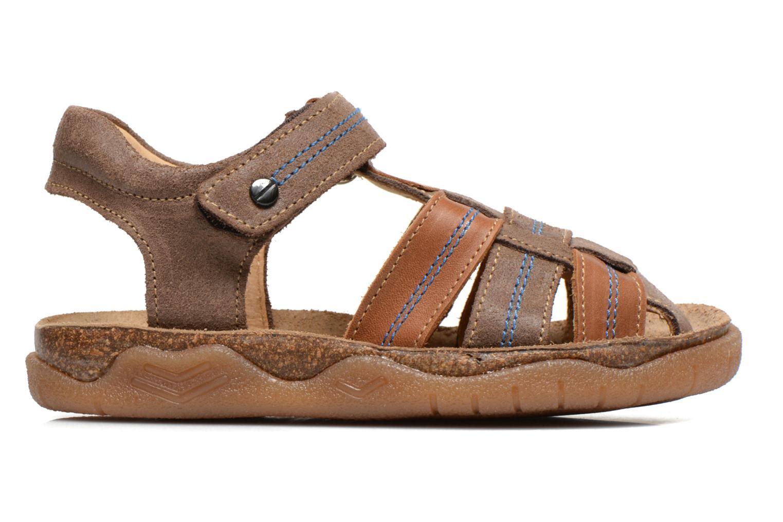 Sandalen Minibel Imed Bruin achterkant