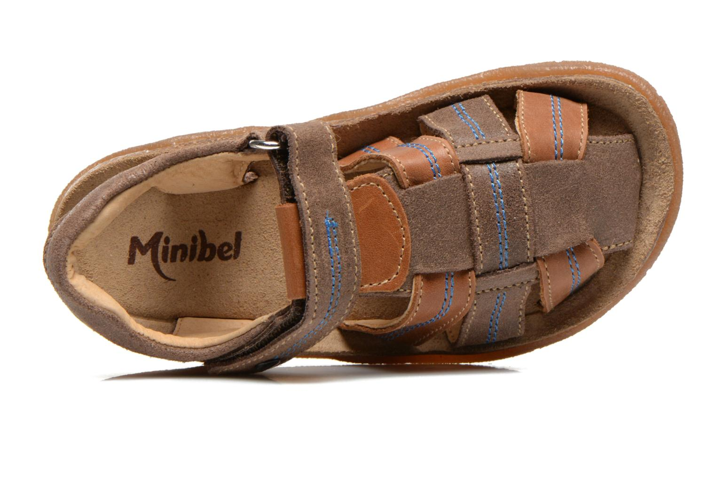 Sandalias Minibel Imed Marrón vista lateral izquierda