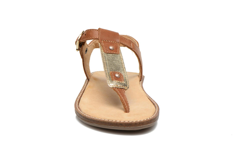 Sandales et nu-pieds Minibel ISOFIA Marron vue portées chaussures