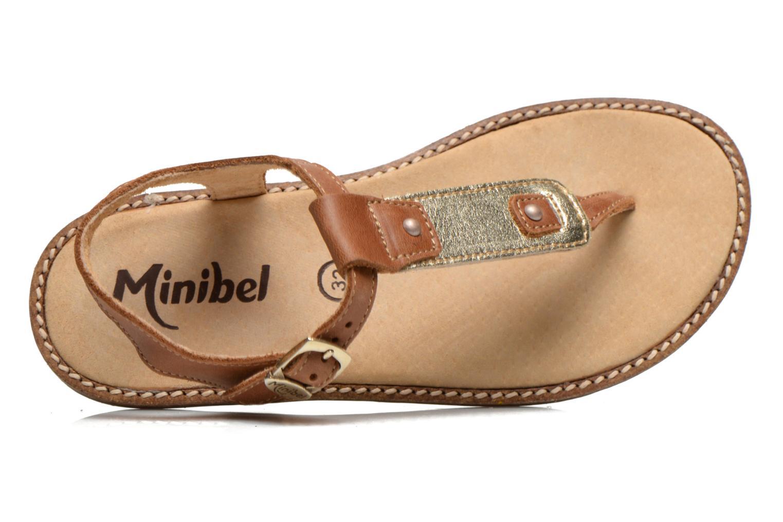 Sandales et nu-pieds Minibel ISOFIA Marron vue gauche