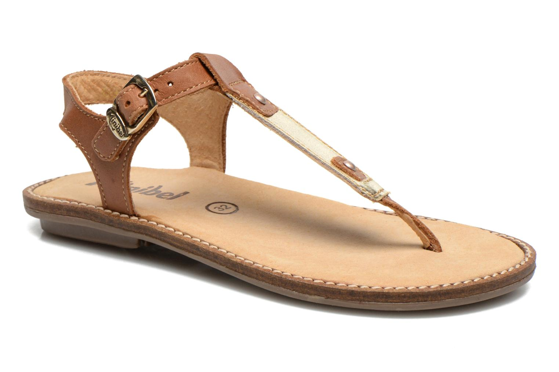 Sandales et nu-pieds Minibel ISOFIA Marron vue détail/paire