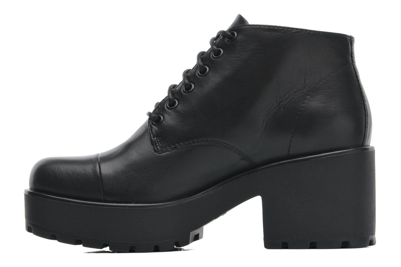 Lace-up shoes Vagabond DIOON 3947-001 Black front view