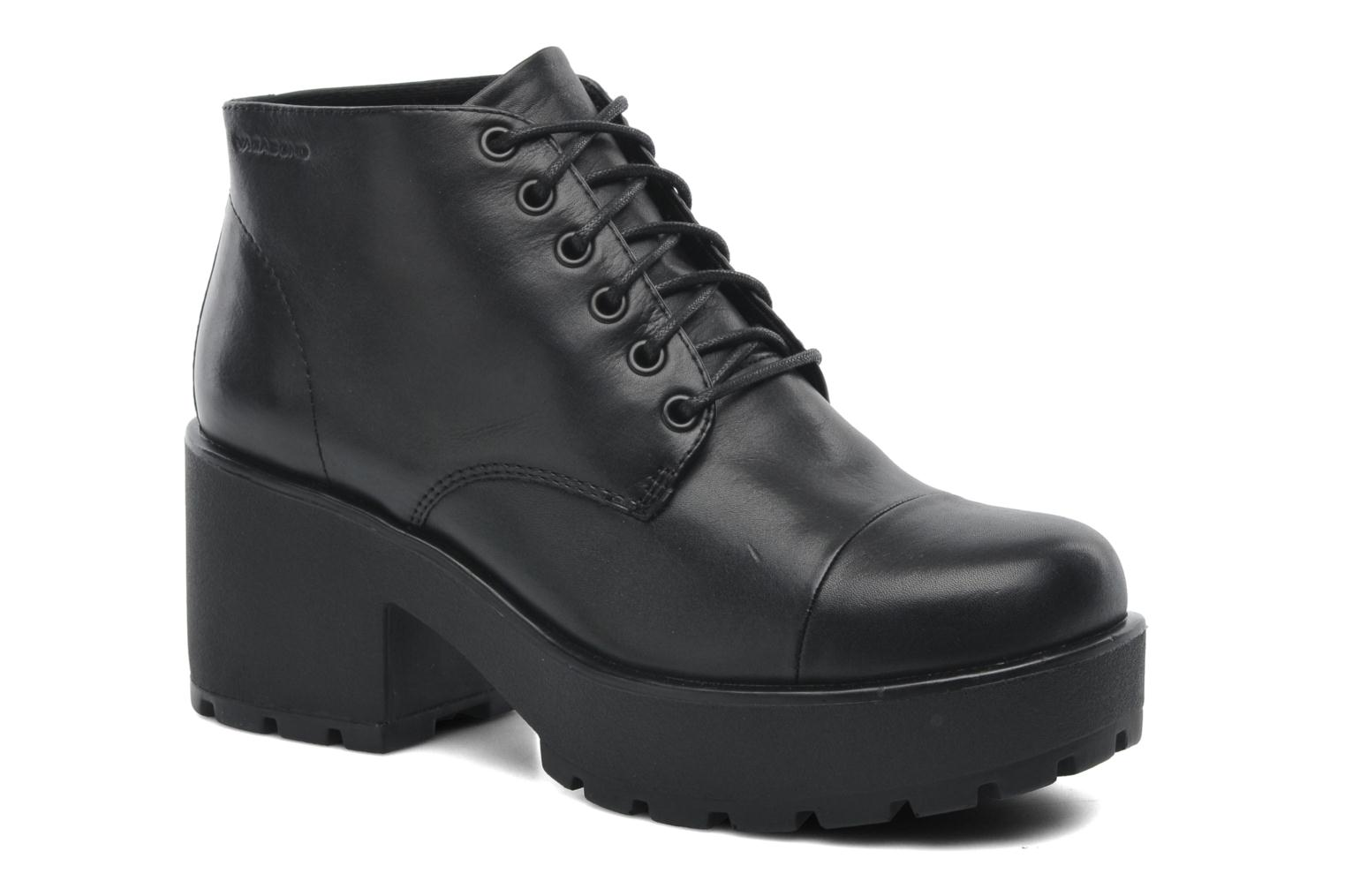 Lace-up shoes Vagabond DIOON 3947-001 Black detailed view/ Pair view