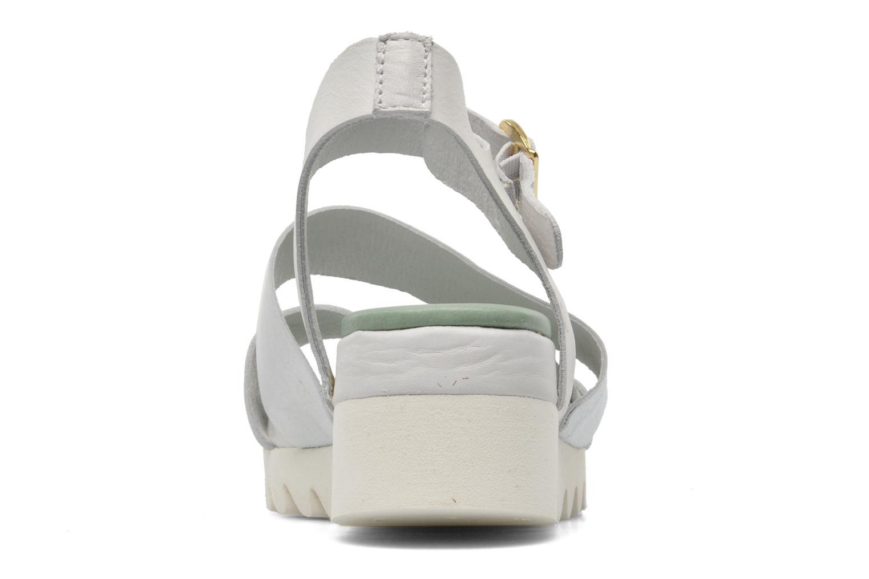 Sandales et nu-pieds Dolfie Nina Blanc vue droite