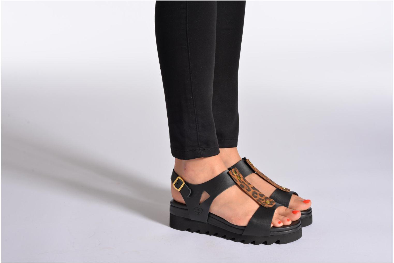 Sandales et nu-pieds Dolfie Mika Noir vue bas / vue portée sac