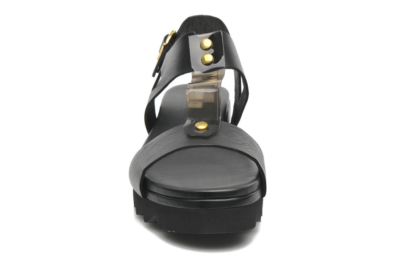 Sandales et nu-pieds Dolfie Mika Noir vue portées chaussures