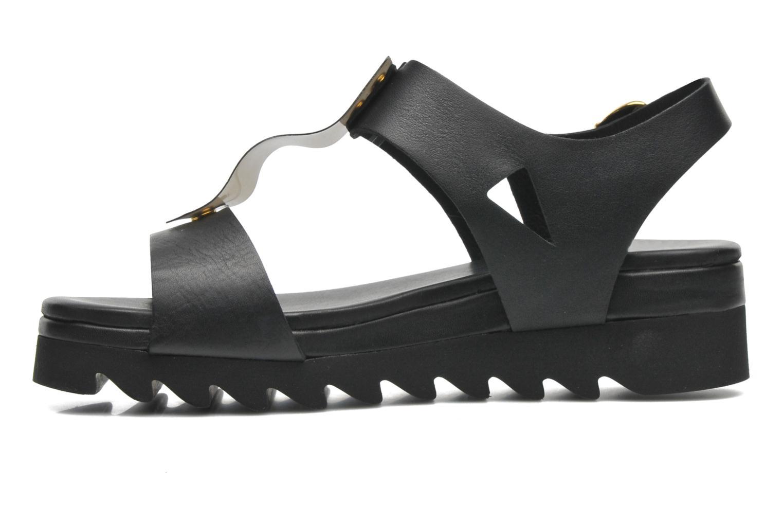 Sandales et nu-pieds Dolfie Mika Noir vue face