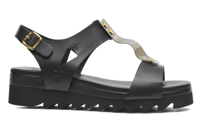 Sandales et nu-pieds Dolfie Mika Noir vue derrière
