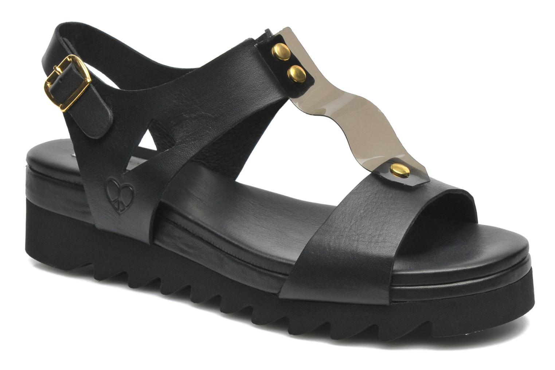 Sandales et nu-pieds Dolfie Mika Noir vue détail/paire