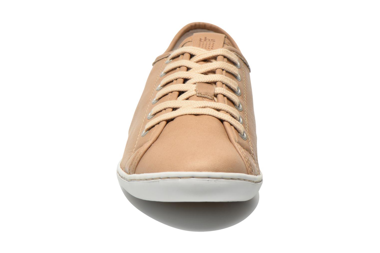 Baskets TBS Cerise Beige vue portées chaussures