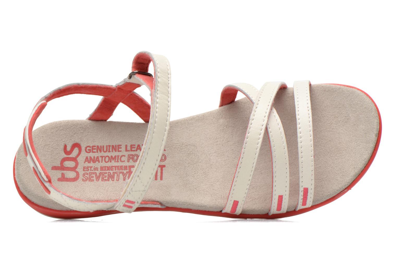 Sandales et nu-pieds TBS Rosita Blanc vue gauche