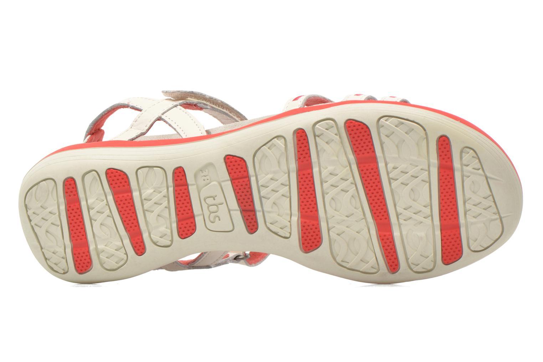 Sandales et nu-pieds TBS Rosita Blanc vue haut