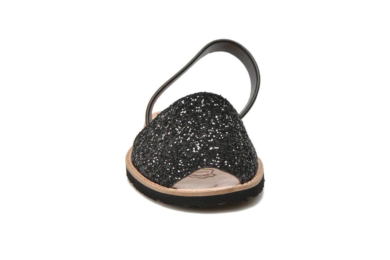 Sandales et nu-pieds MINORQUINES Avarca Noir vue portées chaussures