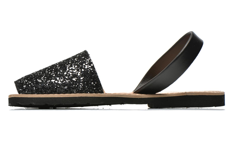 Sandalen MINORQUINES Avarca schwarz ansicht von vorne