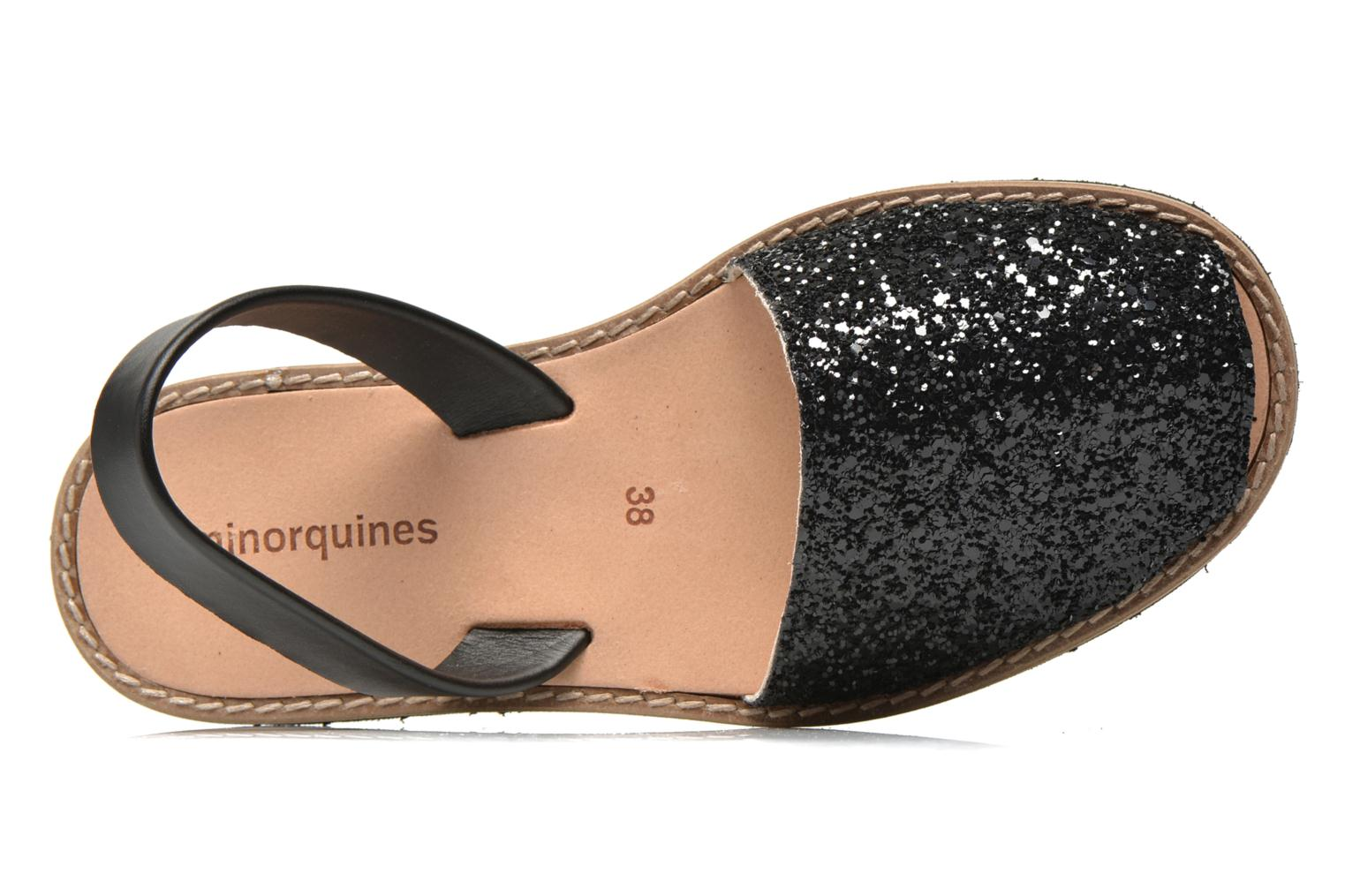 Sandals MINORQUINES Avarca Black view from the left