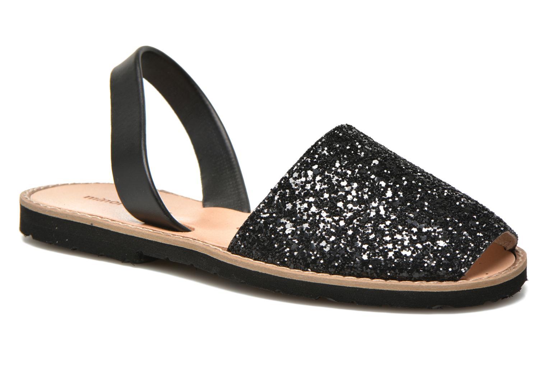 Sandals MINORQUINES Avarca Black detailed view/ Pair view